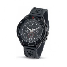 Maserati Watch STILE MULTI. BLACK DIAL BLACK STRAP_R8851101001