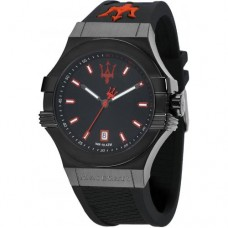 Maserati Watch POTENZA 45mm 3H black Dial Strap_R8851108020