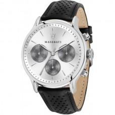 Maserati Watch 42mm w silver Dial Black Strap_R8851118009