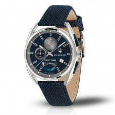 Maserati Watch 41mm Blu Dial Kevlar Fabric Strap_R8851132001