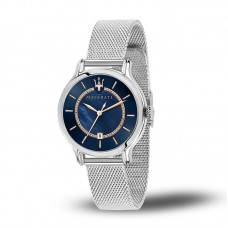 Maserati Watch EPOCA 34mm SH Blue MOP Dial Mesh BR_R8853118507