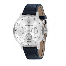 Maserati Watch 44mm CHR Silver Dail Blue Strap_R8871134004