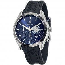 Maserati Watch 45mm CHR Blue Dial BLK STR_R8871624003